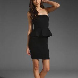 Maje Little Black Peplum Dress